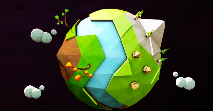 Learn How To Create This Low Poly Planet Earth in Cinema 4D