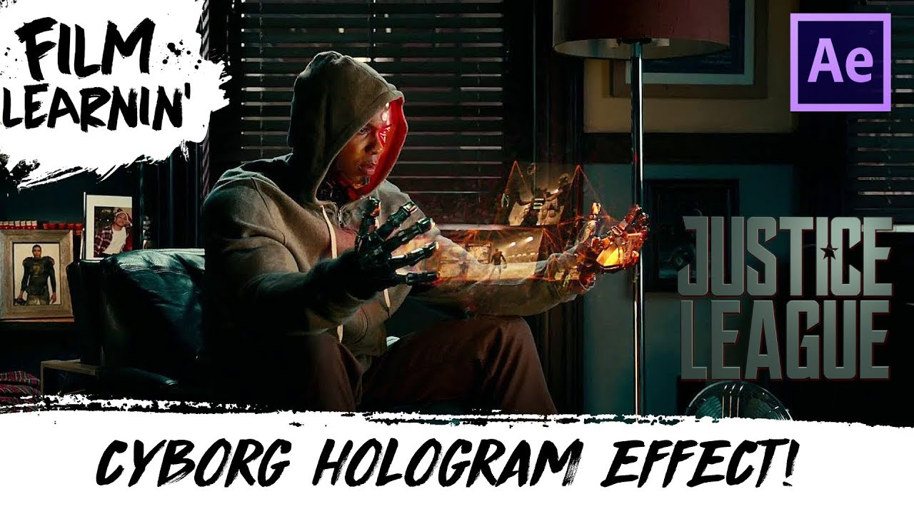 Learn How To Create This Justice League Cyborg Hologram