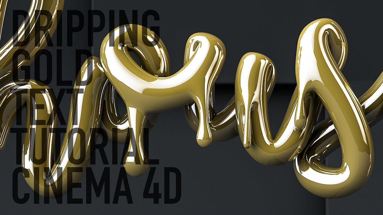 Learn How To Create This Dripping Gold Text Effect In Cinema 4D