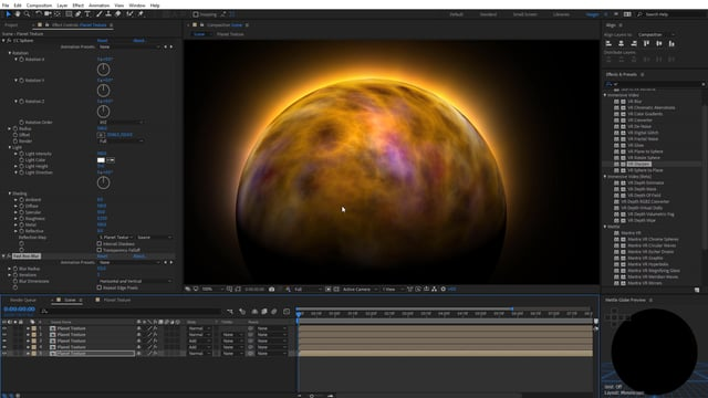 Learn How To Animate Colorful Planet Textures