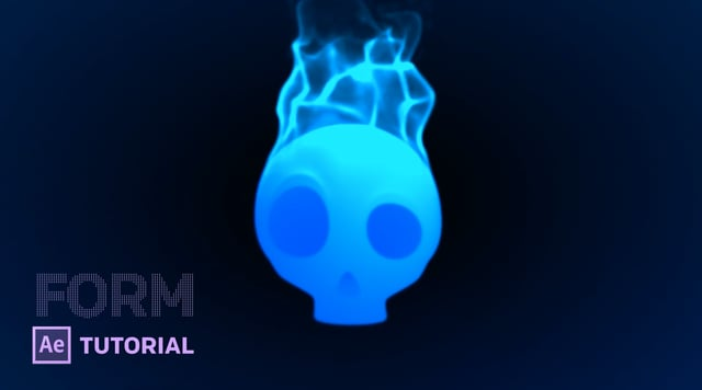 Create This Blue Flaming Skull Using Trapcode Form