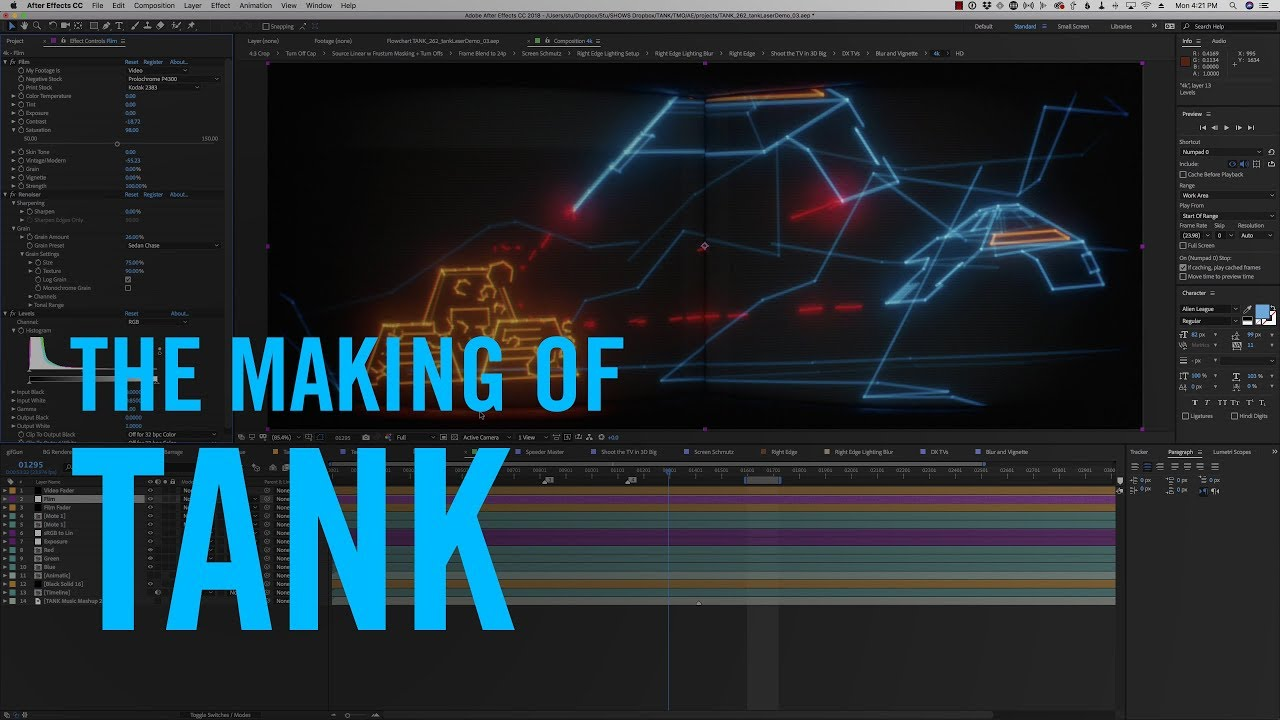 Learn How To Create These Radiant 3D Retro Animations Like The Short Film 'Tank'