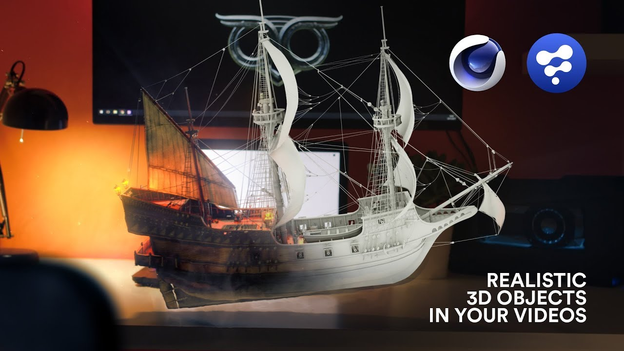 Create And Track This 3D Ship Using Cinema 4D