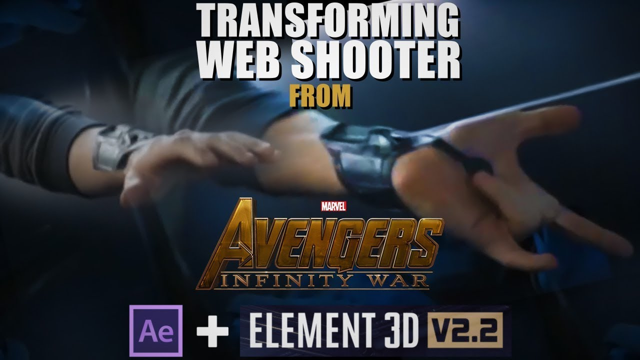 Create This Transforming Spider-Man Web Shooter Using Element 3D