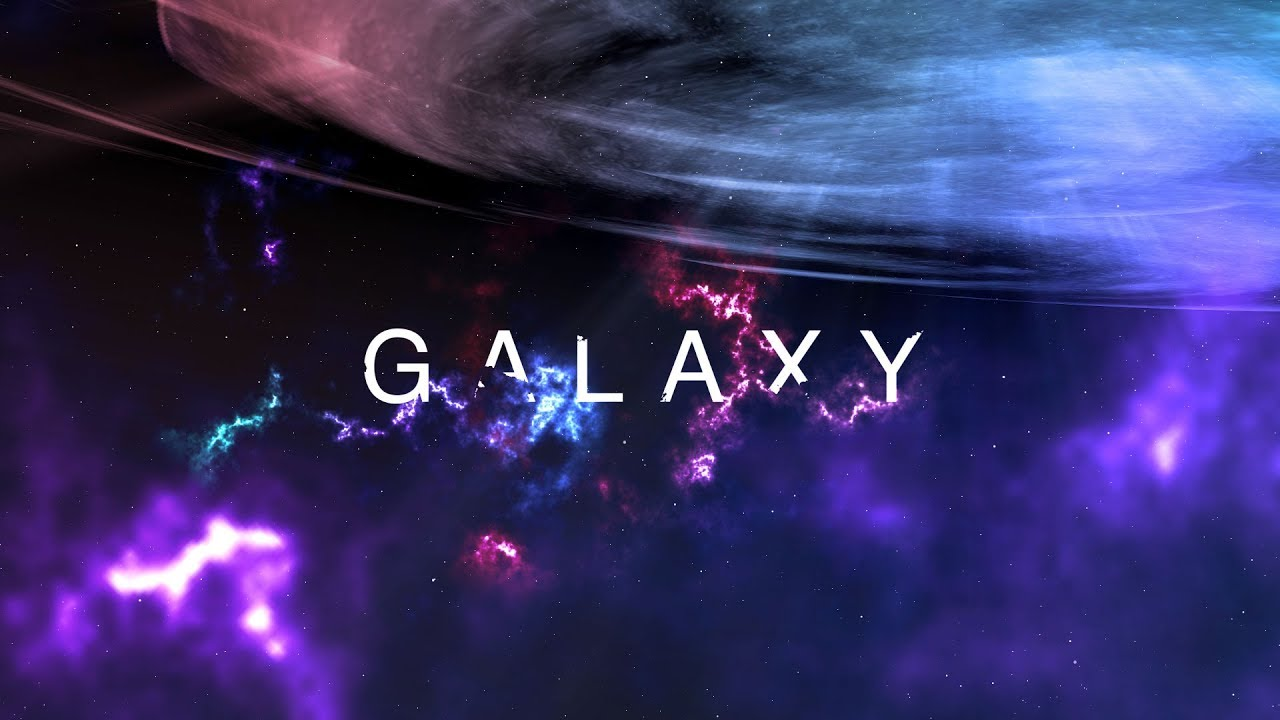 Create This Colorful Space Galaxy Text Animation