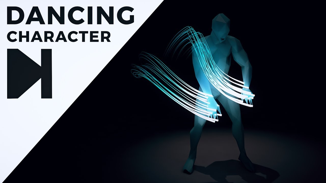 Create This Dancing Character With Glowing Light Trails In Cinema 4D