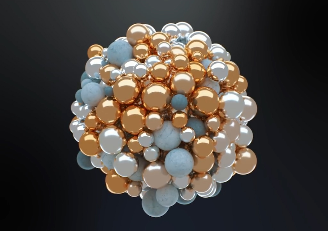 Learn How To Animate These Abstract Marble Spheres In Cinema 4D