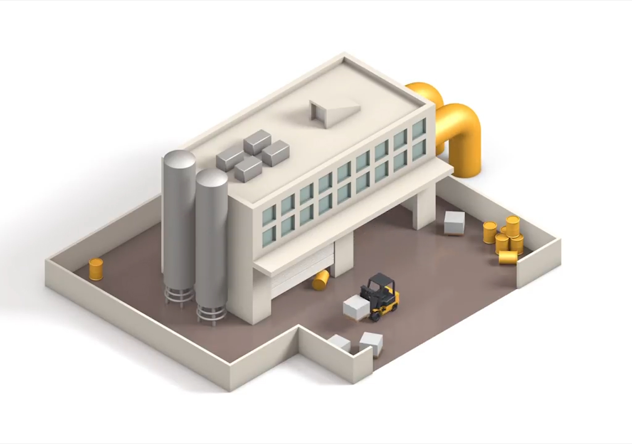 Model And Animate This Low Poly Factory Scene In Cinema 4D