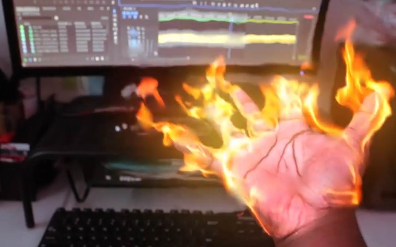 Create This Fire Hand And Learn VFX Basics