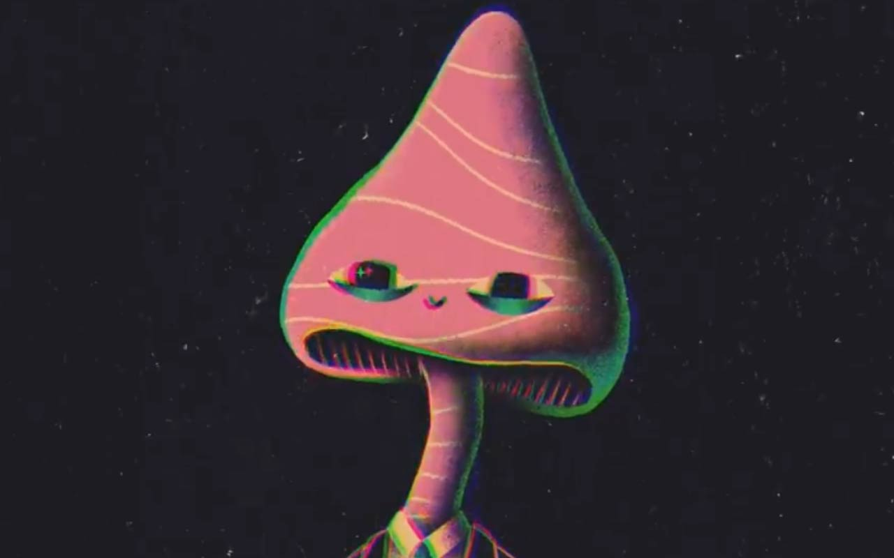 Create This Mushroom Psychedelic Character In After Effects
