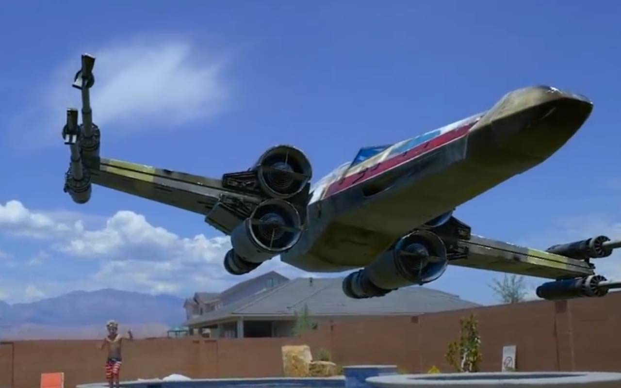 Add A Star Wars X-Wing To Real World Elements Using After Effects and Element 3D