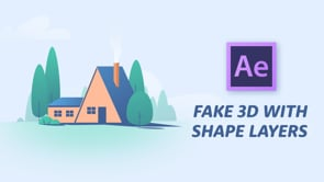 How To Create Fake 3D Using Shape Layers In After Effects