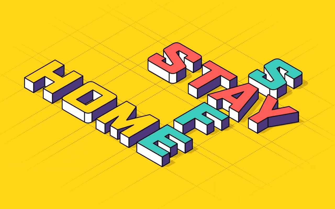 Create This Stay Safe, Stay Home Typography Animation