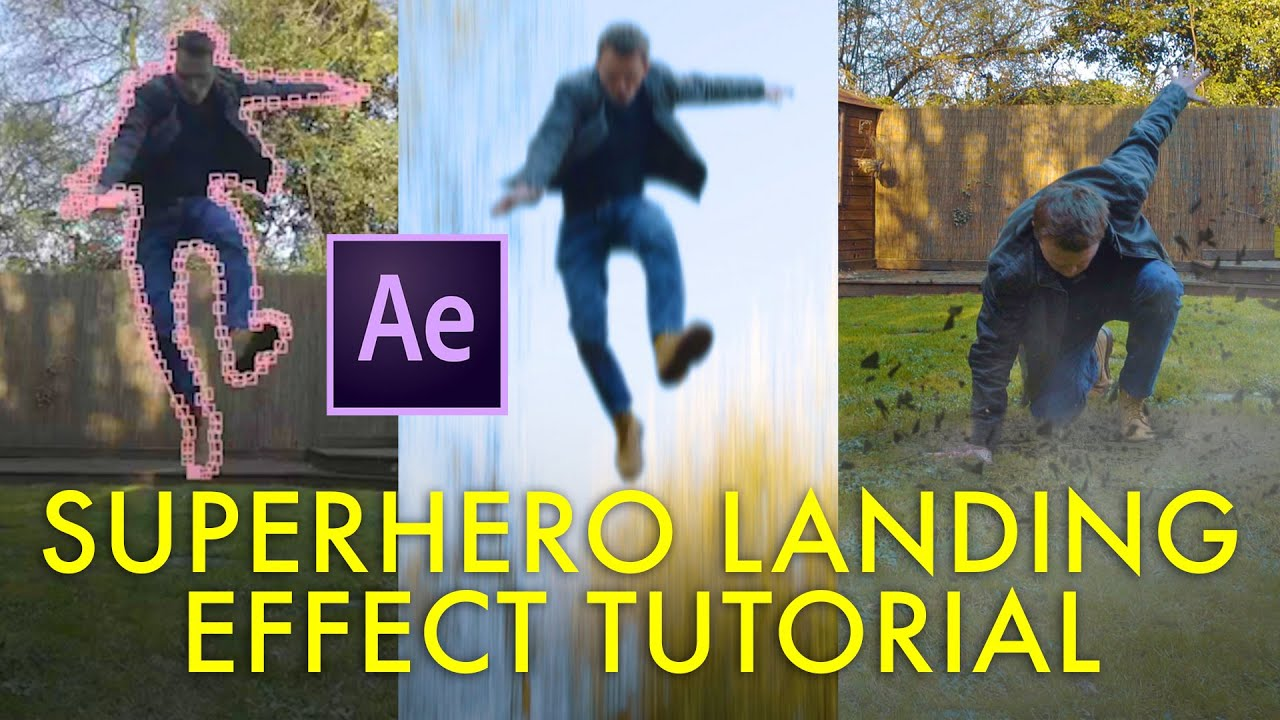 Create A Super Hero Landing Effect From Scratch Using After Effects