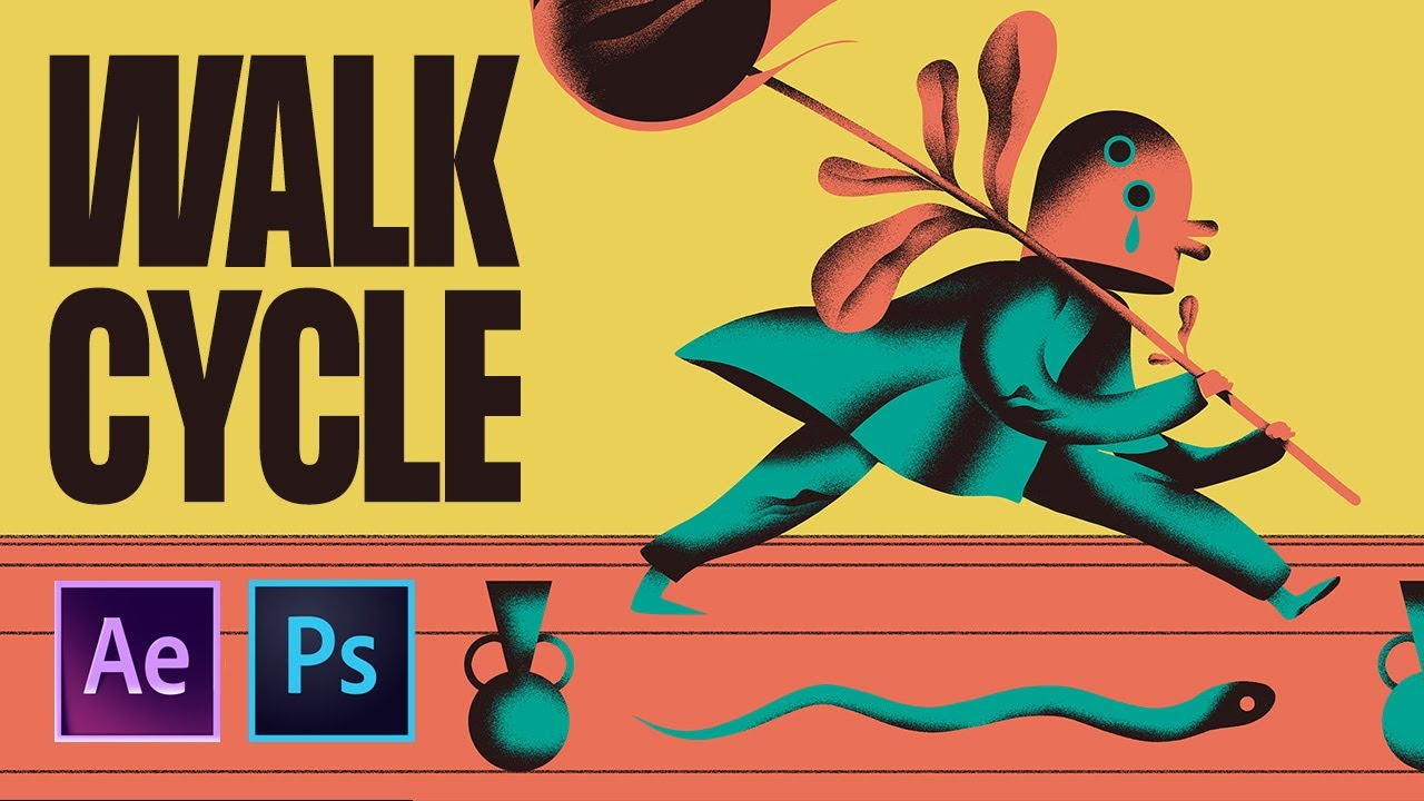 Learn How To Create This Walk Cycle Animation Using Photoshop And After Effects