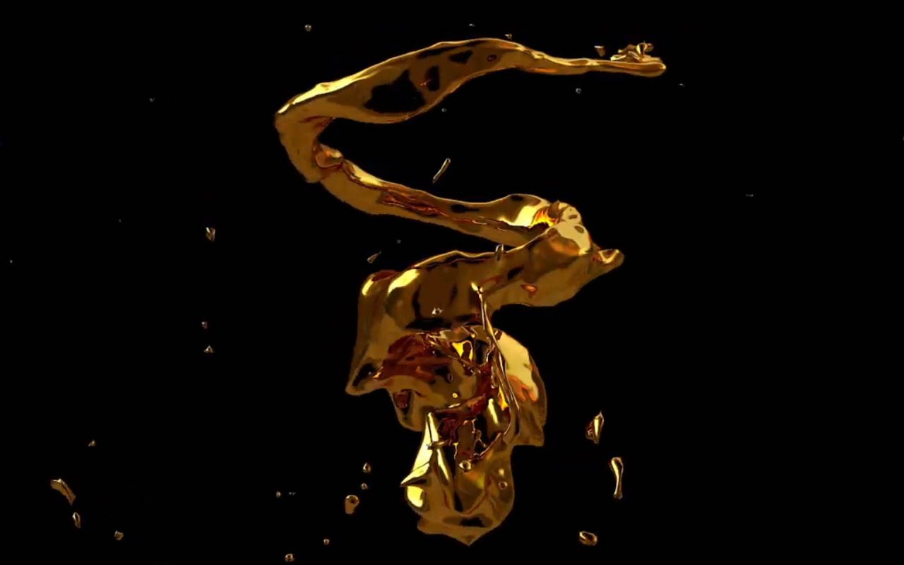 Create A Liquid Gold Animation In Cinema 4D And Realflow