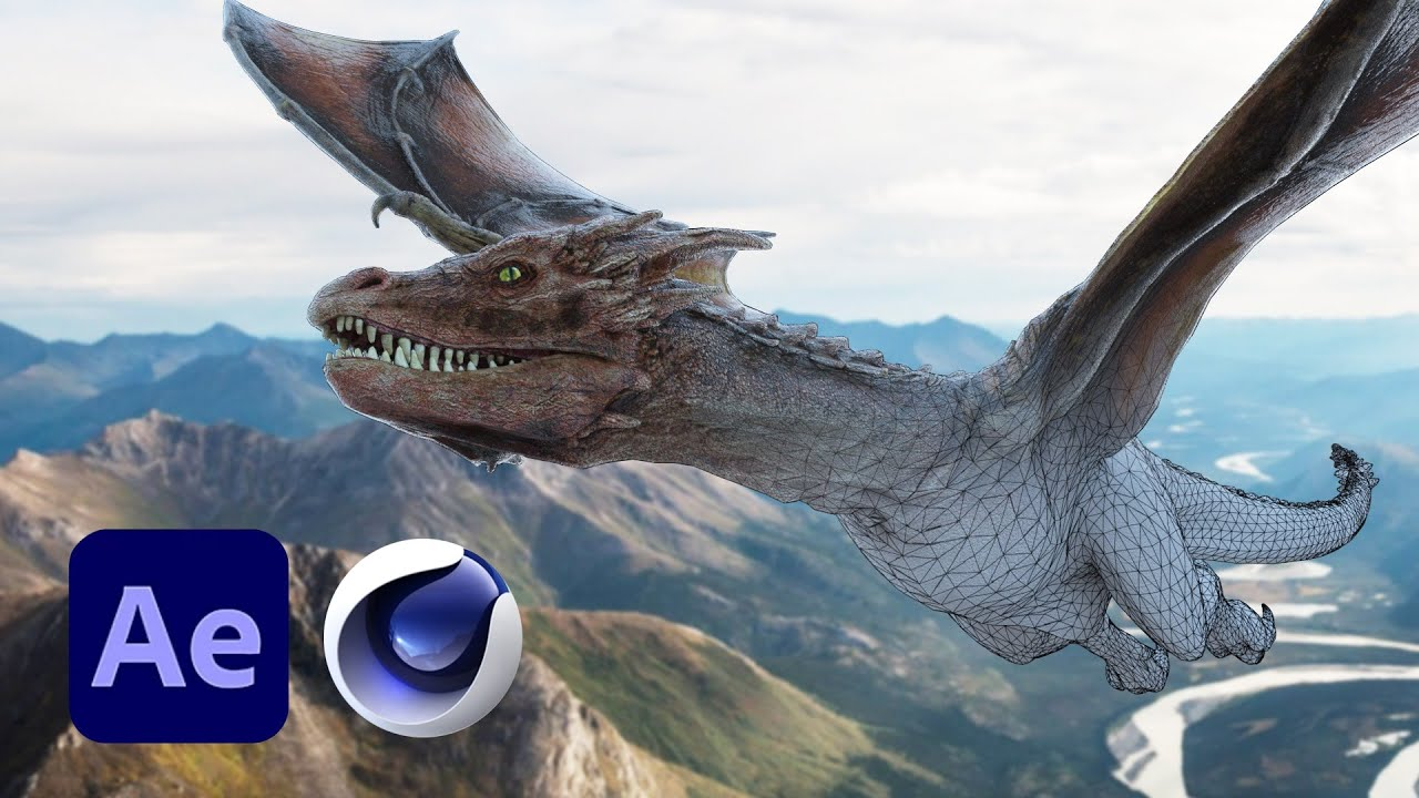 Animate A Realistic 3D Dragon Using Cinema 4D And After Effects