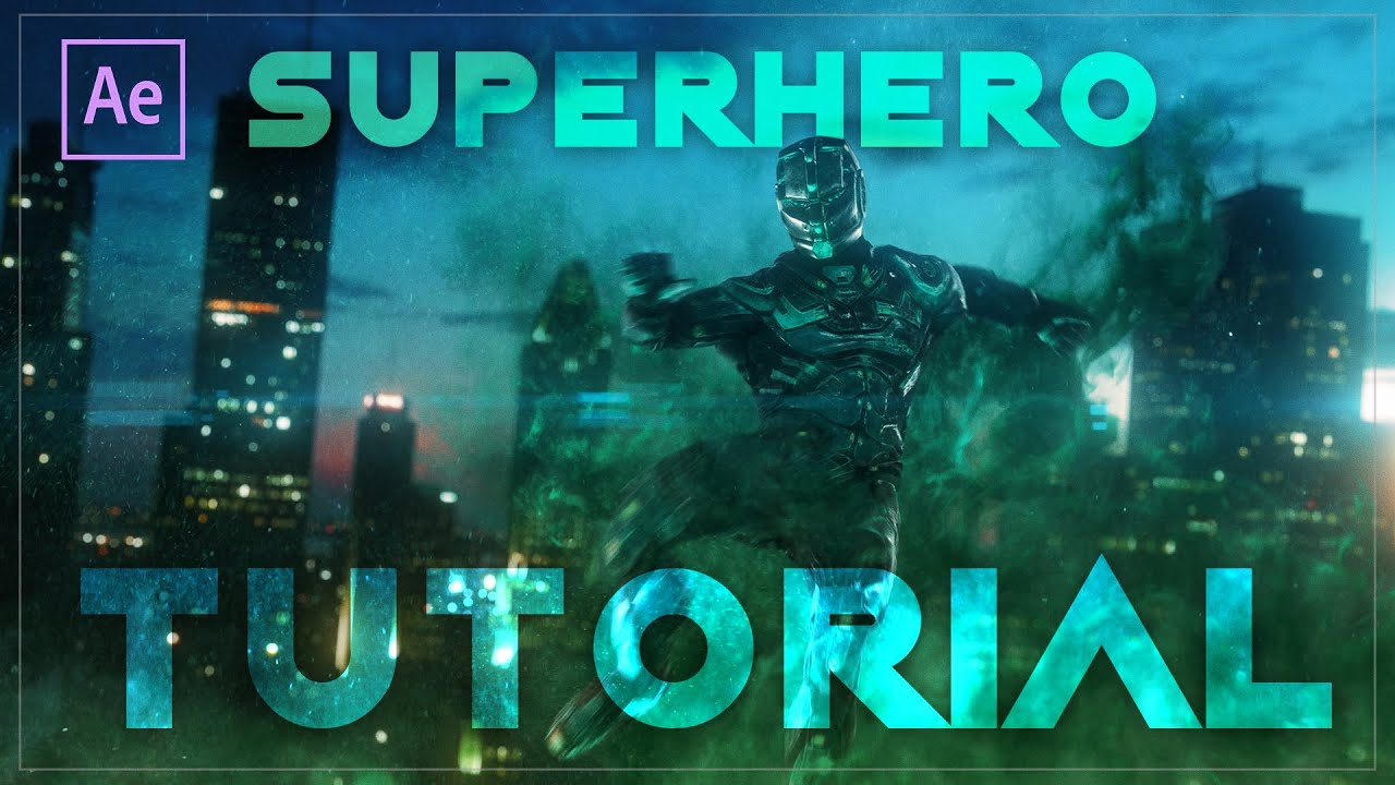 Create This Futuristic Super Hero Jump In After Effects and Element 3D