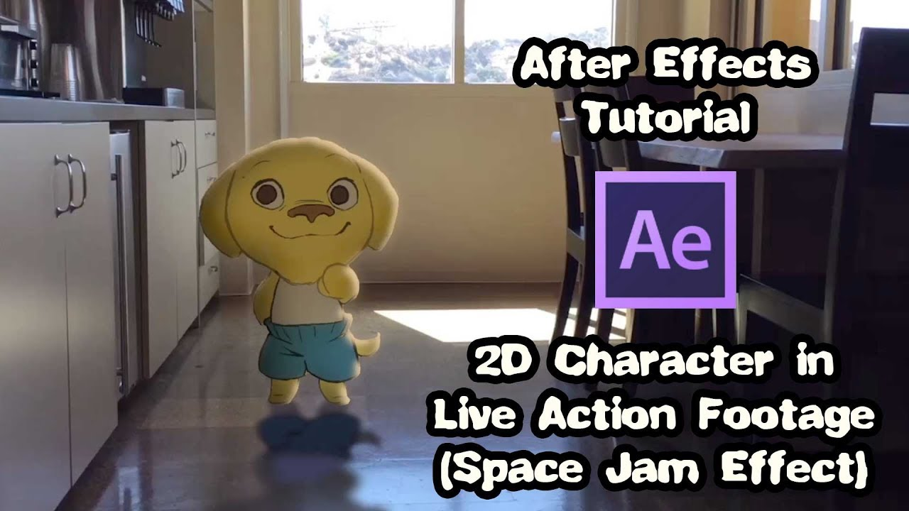 Add 2D Characters To Live Action Footage In After Effects